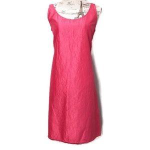 Eileen Fisher crushed silk dress size medium